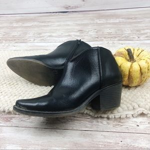 Black cowgirl heel ankle boots FALL booties 8